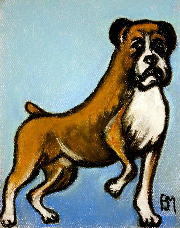 Boxer Art Print featuring the drawing Boxer by Pete Maier