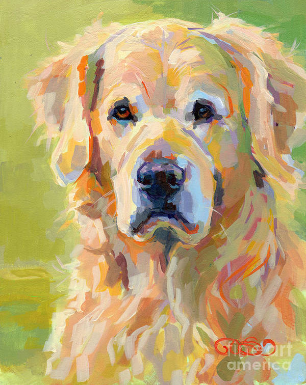 Pet Portrait Art Print featuring the painting Cooper by Kimberly Santini