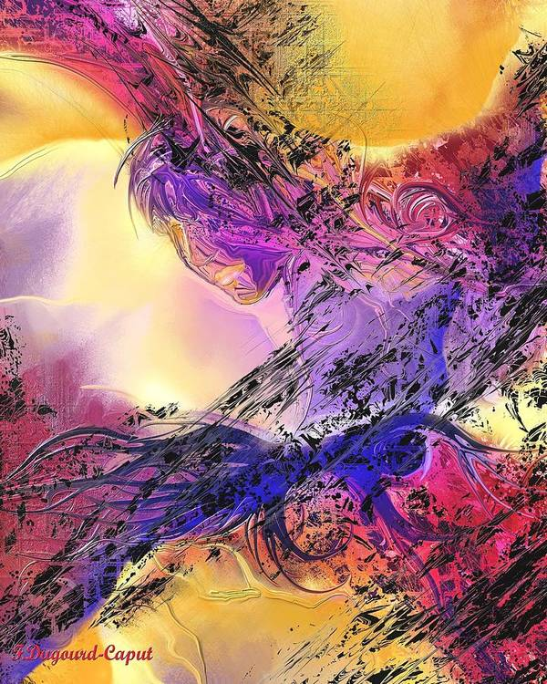 Abstract Art Print featuring the digital art Presence by Francoise Dugourd-Caput
