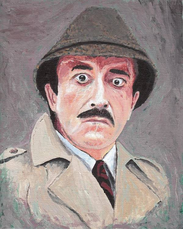 Man Art Print featuring the painting  13-28 Peter Sellers As Inspector  Clouseau by 6bbd5c58a8a
