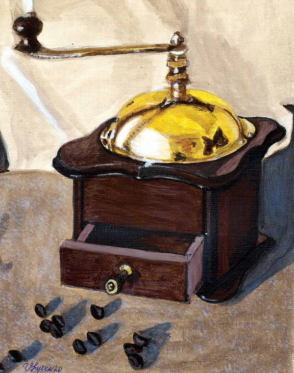 Coffee Art Print featuring the painting Coffee by Vera Lysenko