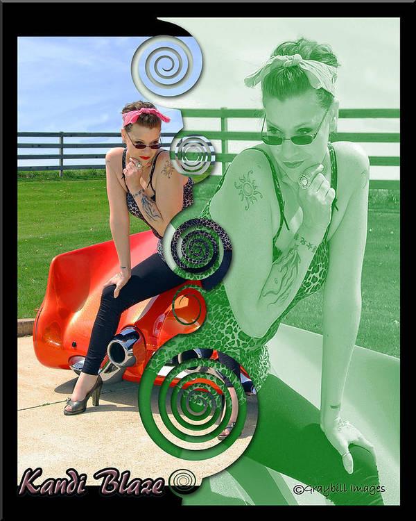 Kandi Blaze Art Print featuring the photograph Kandi Blaze Poster 3 by Brian Graybill