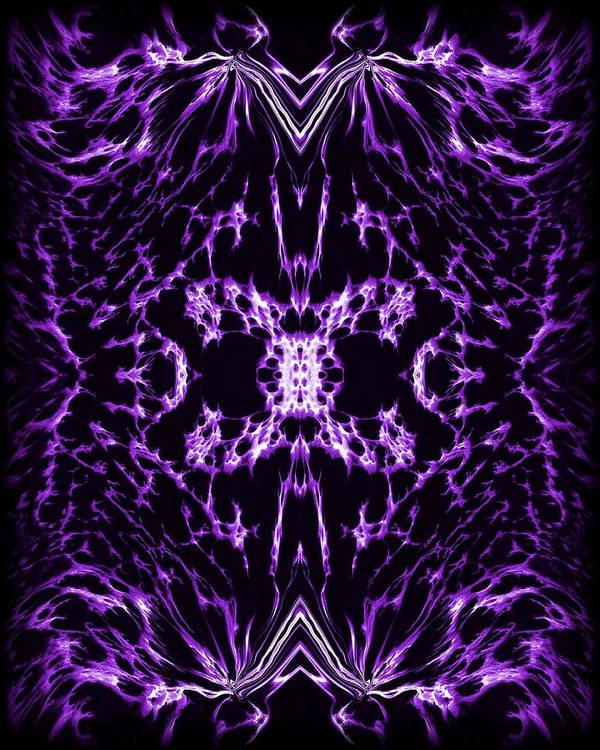 Original Art Print featuring the painting Purple Series 2 by J D Owen