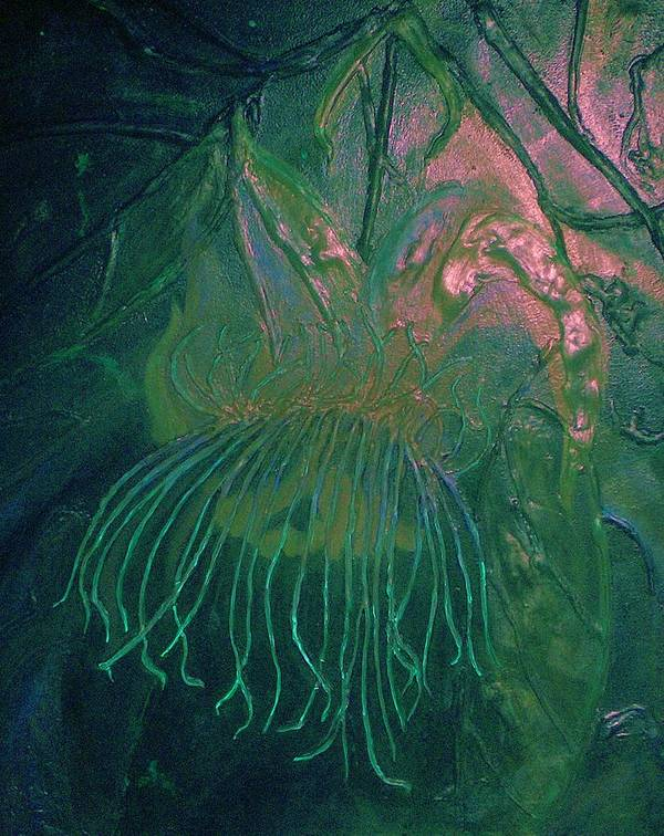 Cosmic Art Print featuring the painting Cosmic Light Series by Len Sodenkamp