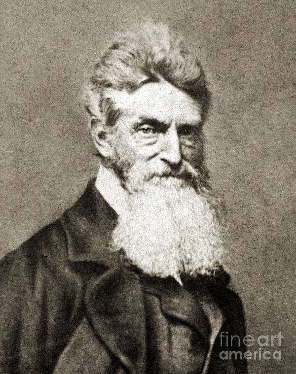 John Brown Art Print featuring the photograph John Brown, American Abolitionist by Photo Researchers