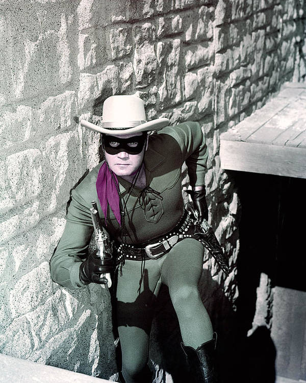 The Lone Ranger Art Print featuring the photograph Clayton Moore In The Lone Ranger by Silver Screen