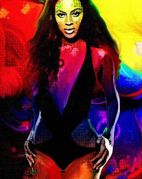 Beyonce Art Print featuring the painting Star by Bogdan Floridana Oana