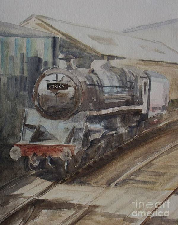 Watercolour Print featuring the painting 75069 Br Standard Class 4 by Martin Howard