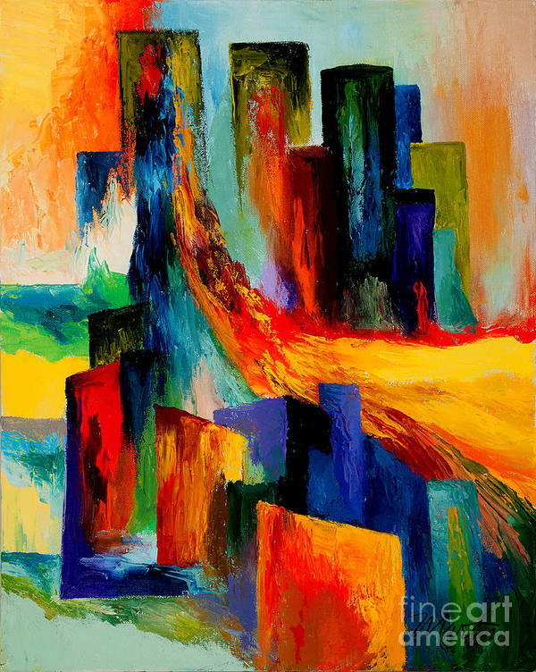 Terrorism Art Print featuring the painting 911 Revisited by Larry Martin