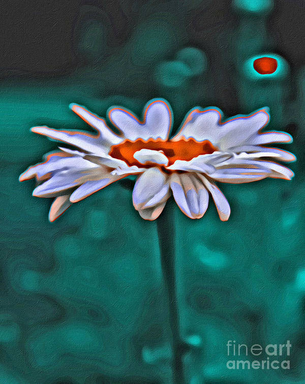 Daisy Art Print featuring the photograph A Flower For You by Scott Hervieux