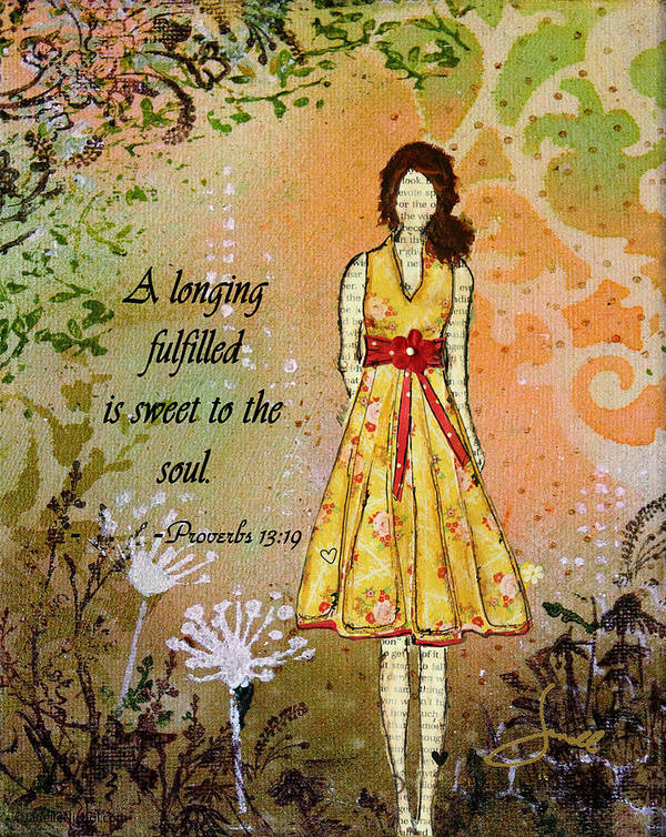 Unique Art Print featuring the mixed media A Longing Fulfilled by Janelle Nichol
