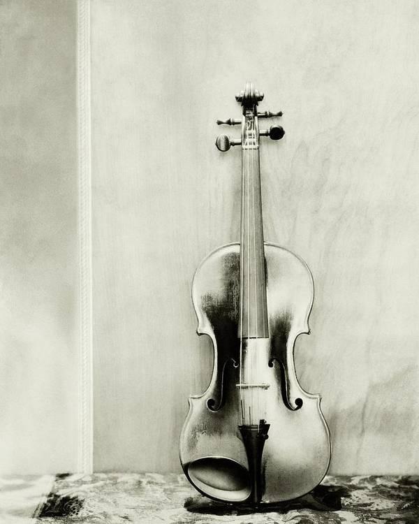 Studio Shot Art Print featuring the photograph A Violin by Edward Steichen