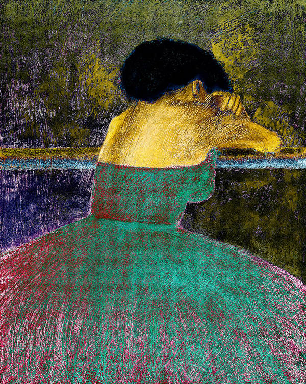 Impressionistic Print featuring the digital art After The Dance by David Patterson
