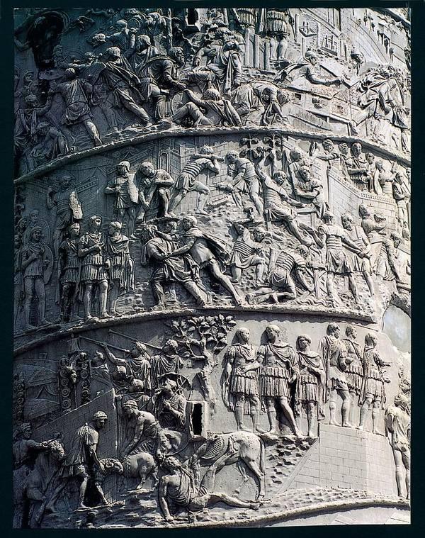 Detail Art Print featuring the photograph Apollodorus Of Damascus, Column by Everett