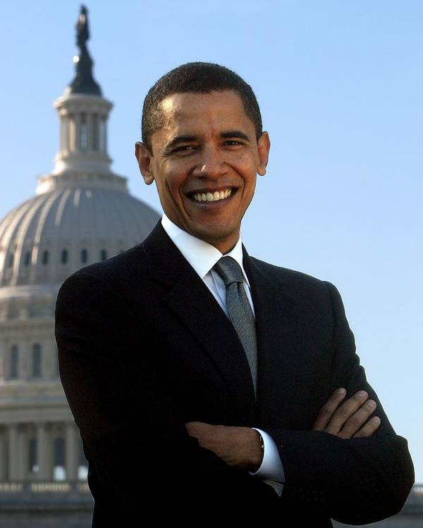 Obama Art Print featuring the photograph Barack Obama by Tilen Hrovatic