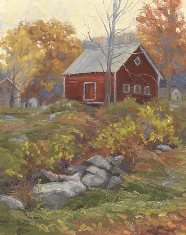 Fall Art Print featuring the painting Before Sunrise by Lucie Bilodeau