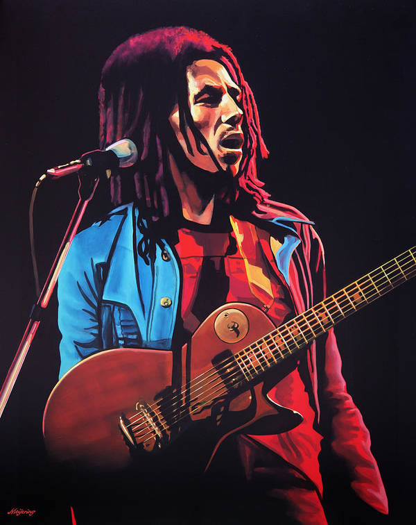 Bob Marley Art Print featuring the painting Bob Marley 2 by Paul Meijering