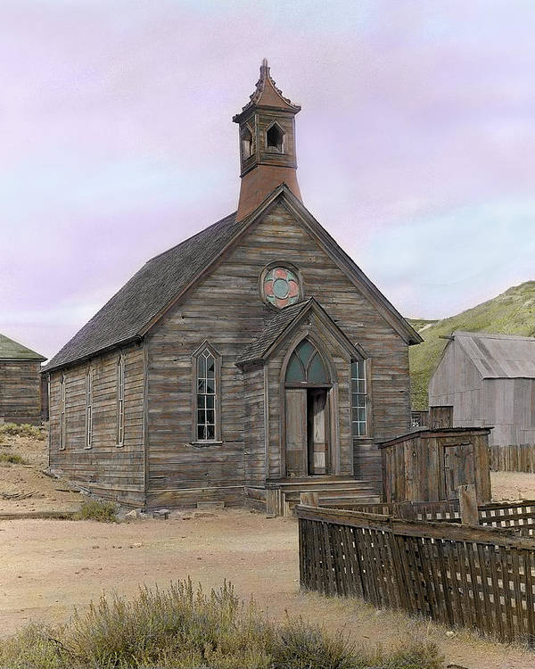 Bodie Art Print featuring the photograph Bodie Church by Mel Felix