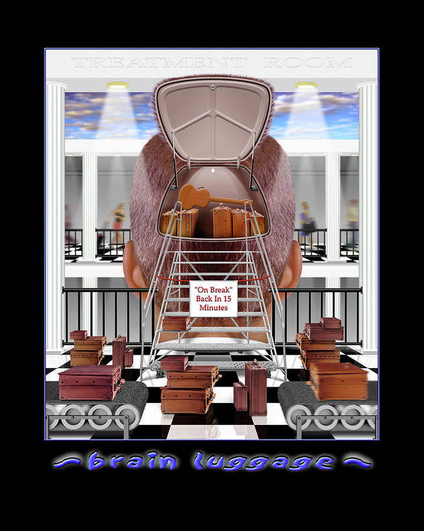 Surrealism Print featuring the photograph Brain Luggage by Mike McGlothlen