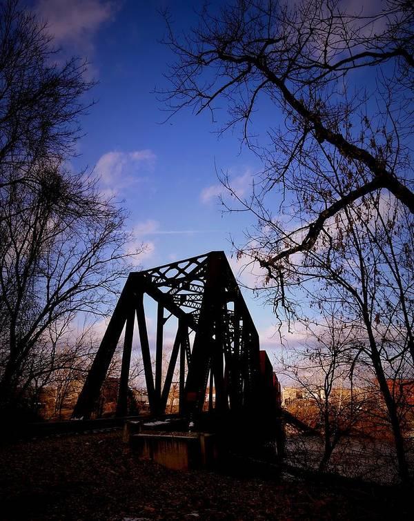 Bridge Art Print featuring the photograph Bridge At Dusk by Anthony Ackerman