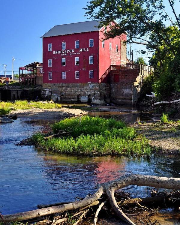 Mill Art Print featuring the pastel Bridgeton Mill 2 by Marty Koch