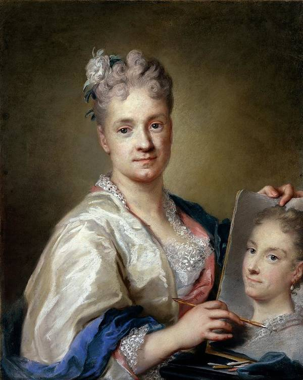 Self Portrait Art Print featuring the photograph Carriera Rosalba, Self-portrait, 1715 by Everett