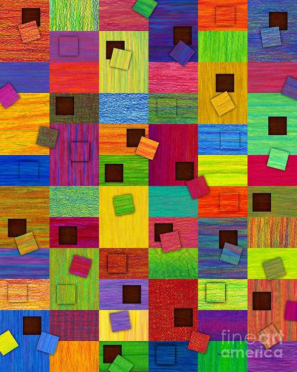 Colored Pencil Art Print featuring the painting Chronic Tiling V2.0 by David K Small