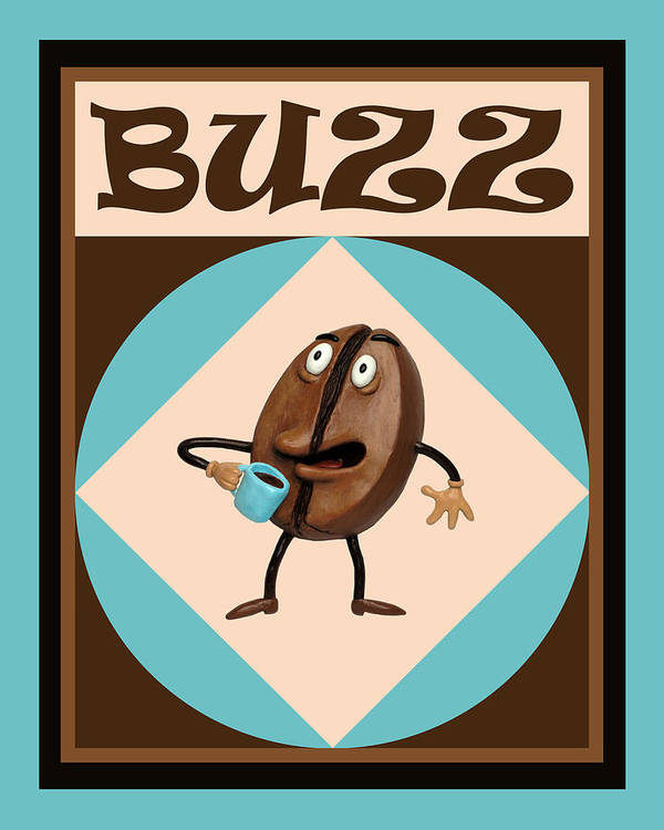 Coffee Print featuring the painting Coffee Buzz by Amy Vangsgard