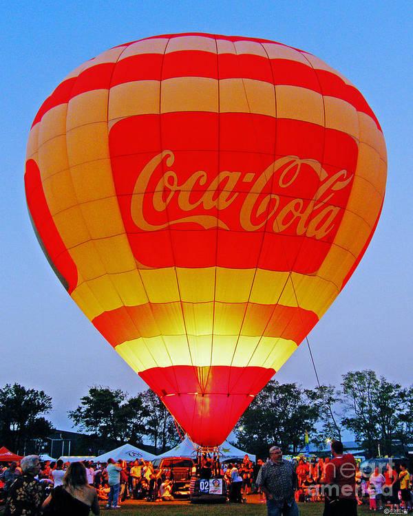 Balloon Art Print featuring the digital art Coke Float by Lizi Beard-Ward