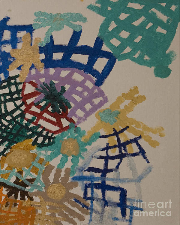 Colorful Art Print featuring the painting Color Webs by Stephanie Ward