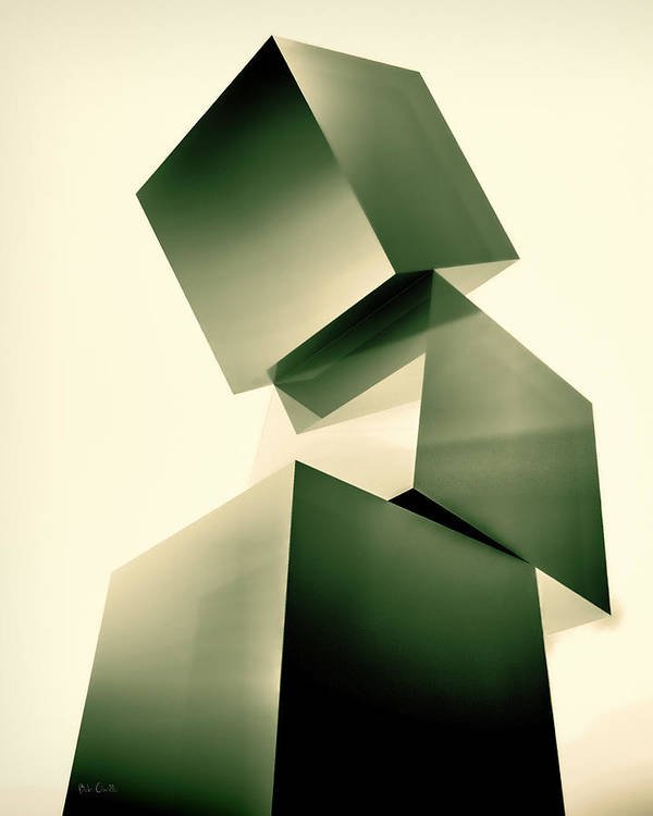 Cube Art Print featuring the photograph Condescending Cubes by Bob Orsillo
