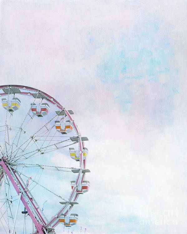 Ferris Wheel Art Print featuring the photograph Cotton Candy Ferris Wheel by Kay Pickens