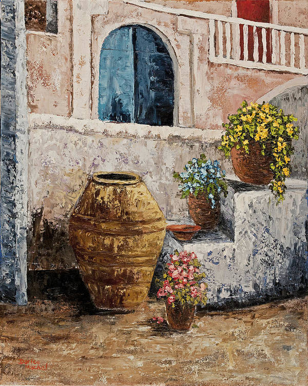 Courtyard Art Print featuring the painting Courtyard 2 by Darice Machel McGuire