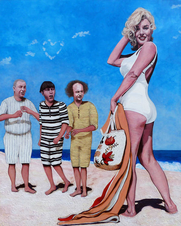 Marilyn Monroe Art Print featuring the painting Cupid's Arrow by Tom Roderick