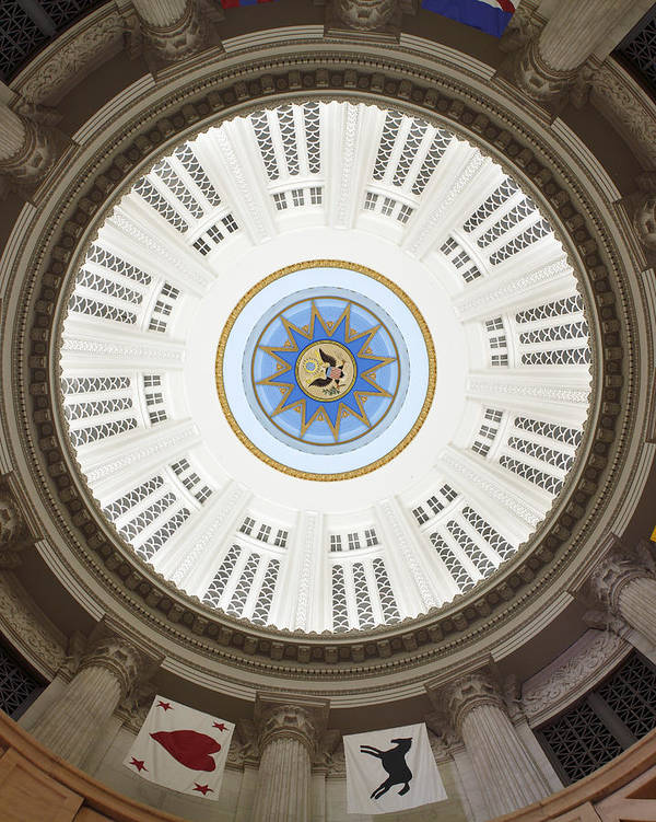 Custom House Tower Art Print featuring the photograph Custom House Tower Ceiling Boston by Norman Pogson
