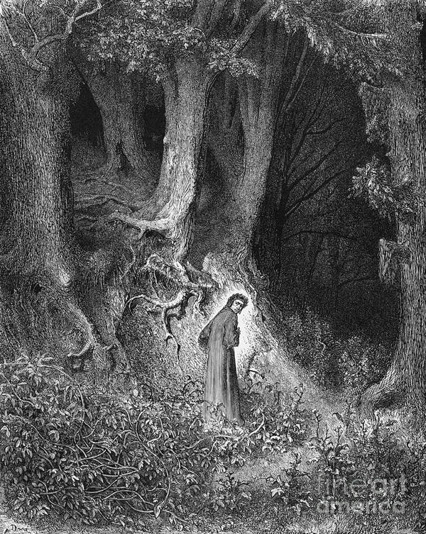 Dante S Inferno The Gloomy Wood Art Print