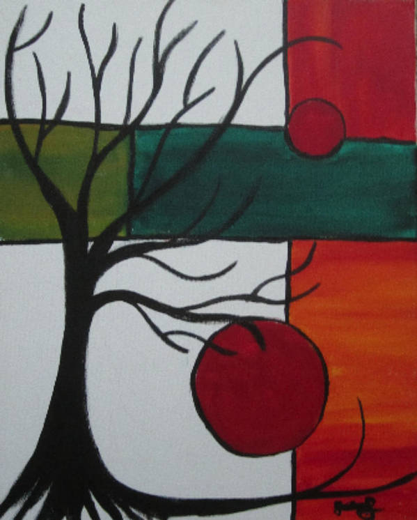 Tree Art Print featuring the painting Dead Tree by Nydia Williams