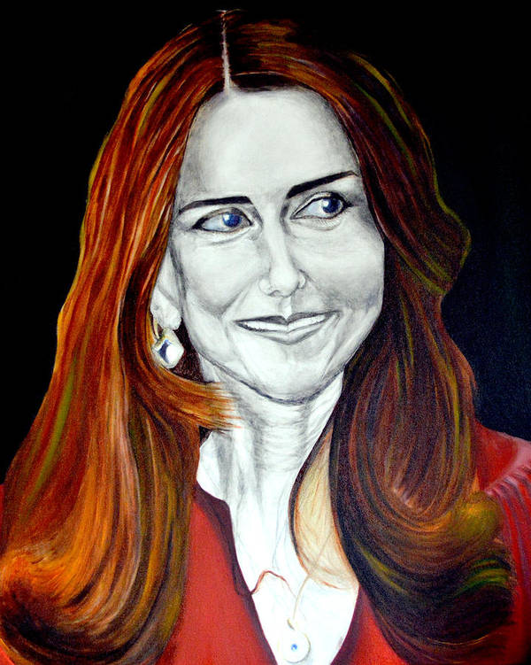 Duchess Print featuring the painting Duchess Of Cambridge by Prasenjit Dhar