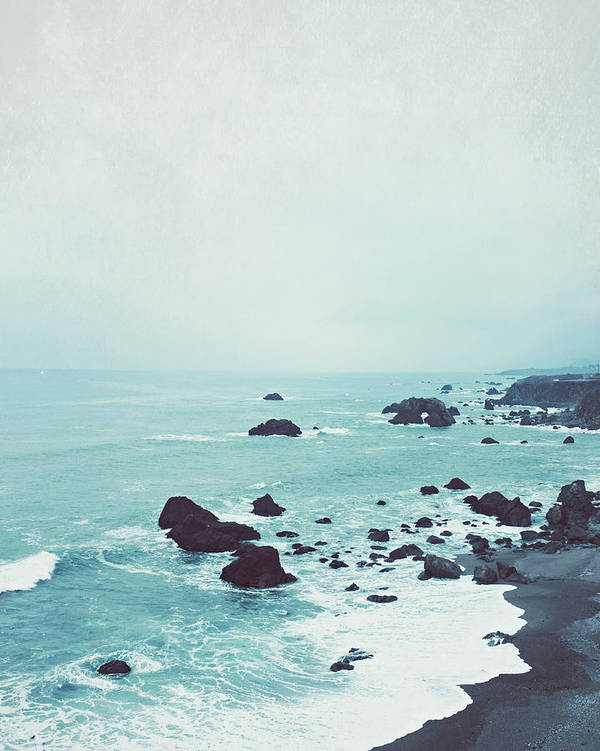Beach Photograph Art Print featuring the photograph Dusk At The Sea by Lupen Grainne