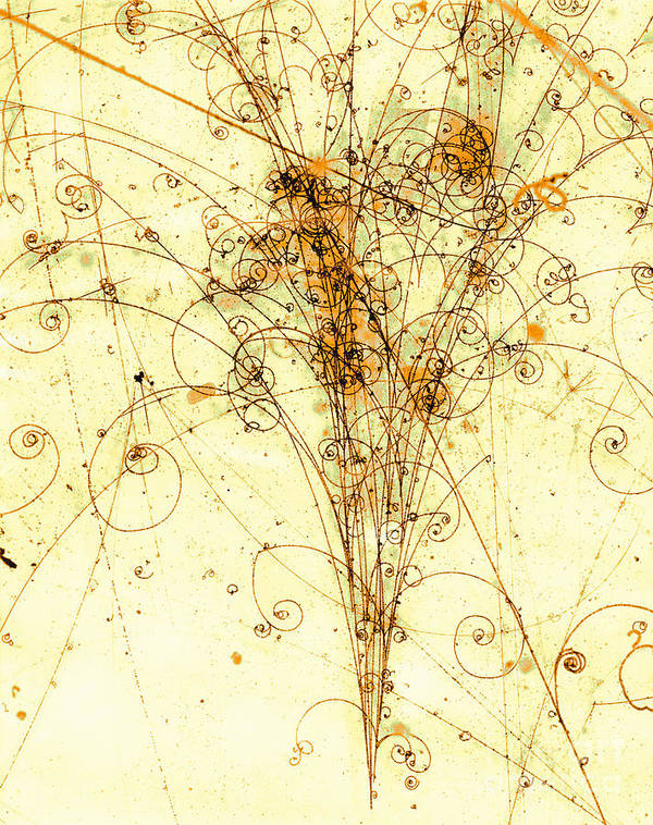 Electron Art Print featuring the photograph Electron Positron Particle Shower by Spl