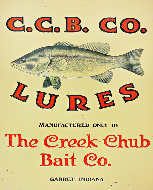 Fishing Art Print featuring the photograph Fishing Bait Advertising Sign by Randy Steele