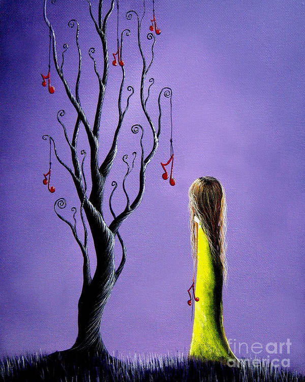 Surreal Art Print featuring the painting Five Wishes Left By Shawna Erback by Artisan Parlour