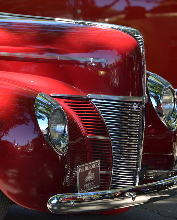 Red Art Print featuring the photograph Ford Hotrod by Dean Ferreira