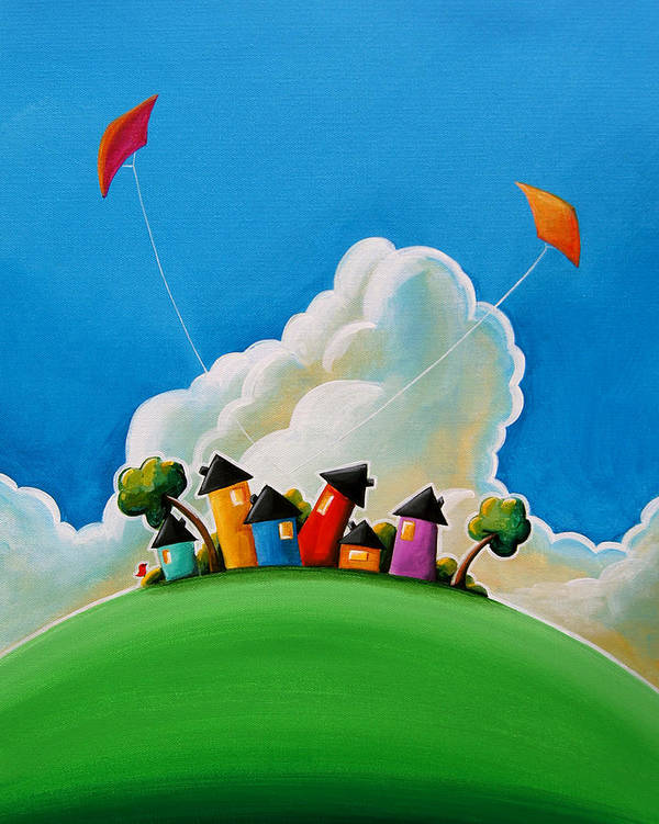 House Art Print featuring the painting Gather Round by Cindy Thornton
