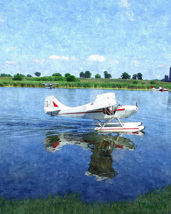 Landscape Art Print featuring the photograph Gliding Between Two Worlds by Mike Bowers
