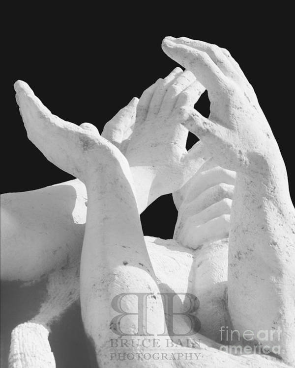 Hands Art Print featuring the photograph Hands by Bruce Bain