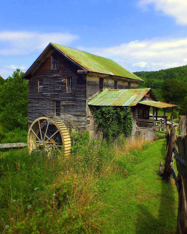 Whites Mill Art Print featuring the photograph Historical Whites Mill by Karen Wiles
