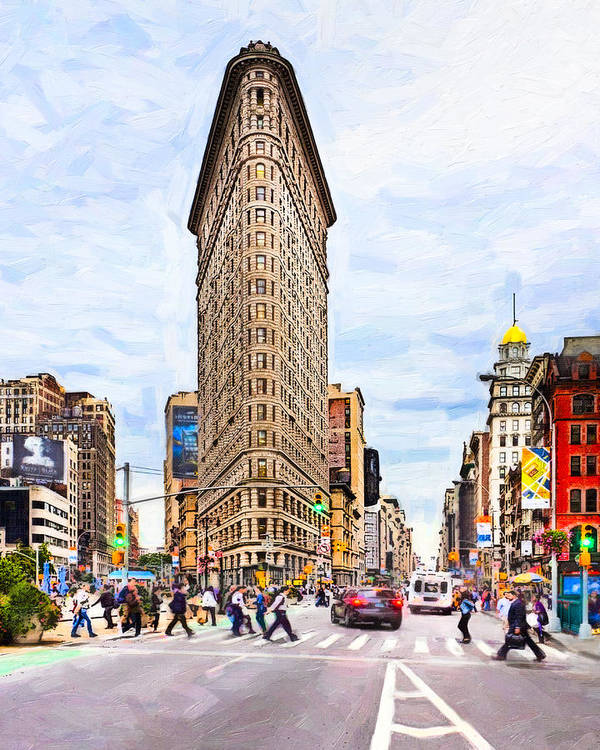 Flatiron Art Print featuring the photograph Iconic New York City Flatiron Building by Mark E Tisdale