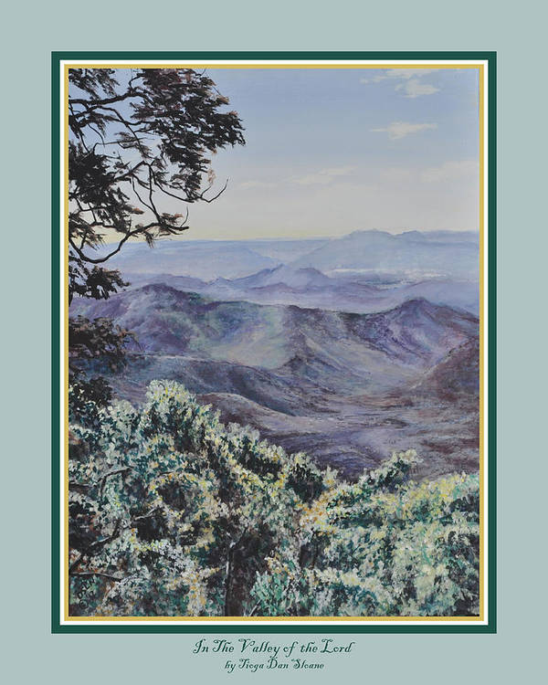 Print Art Print featuring the painting In The Valley Of The Lord Print by Tioga Dan Sloane