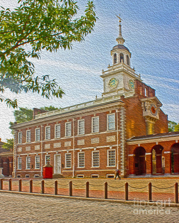 Pennsylvania Art Print featuring the photograph Independence Hall Philadelphia by Tom Gari Gallery-Three-Photography